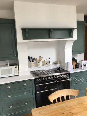 hand painted kitchen shelf using scuff-x eggshell finish