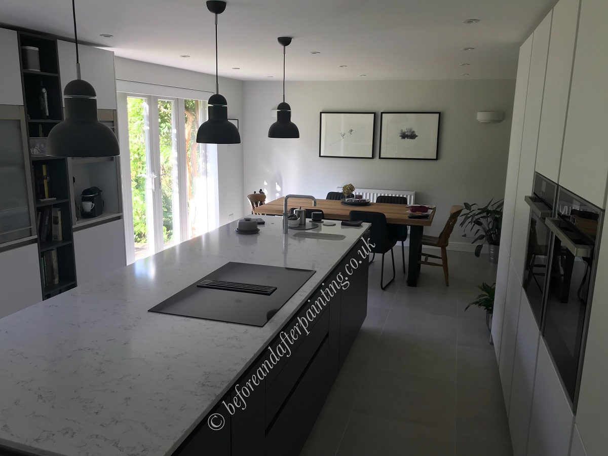 kitchen in sevenoaks kent painted with the best paint benjamin moore