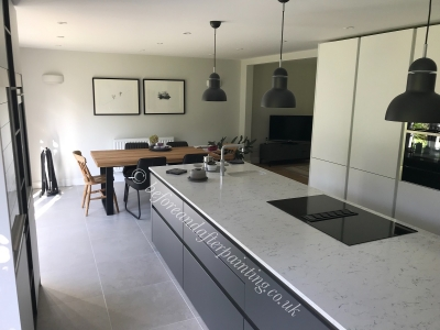 Kitchen in Sevenoaks painted in Regal Matte from Benjamin Moore