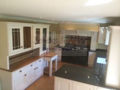 hand painted kitchen in kent using mylands of london water based eggshell on cabinets