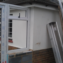 Conservatory still being built in Sittingbourne.