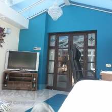 Feature Wall in Dulux Teal Tension.