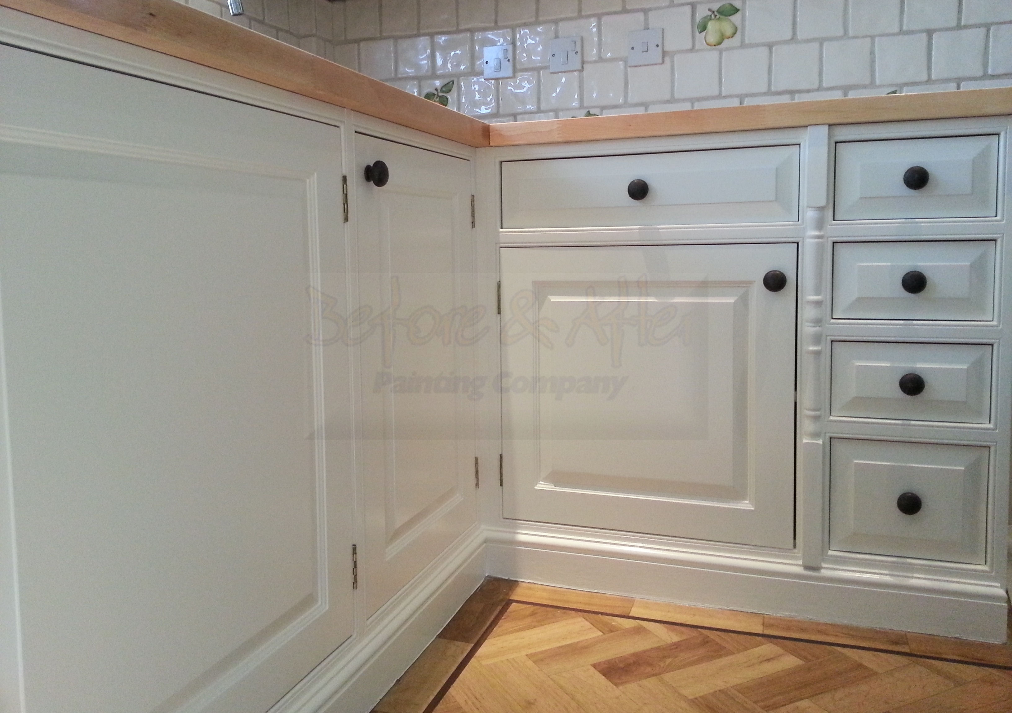 Hand painted kitchen in Sidcup Kent.