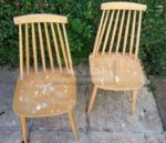 Ercol Hand Painted Chairs and Table Base
