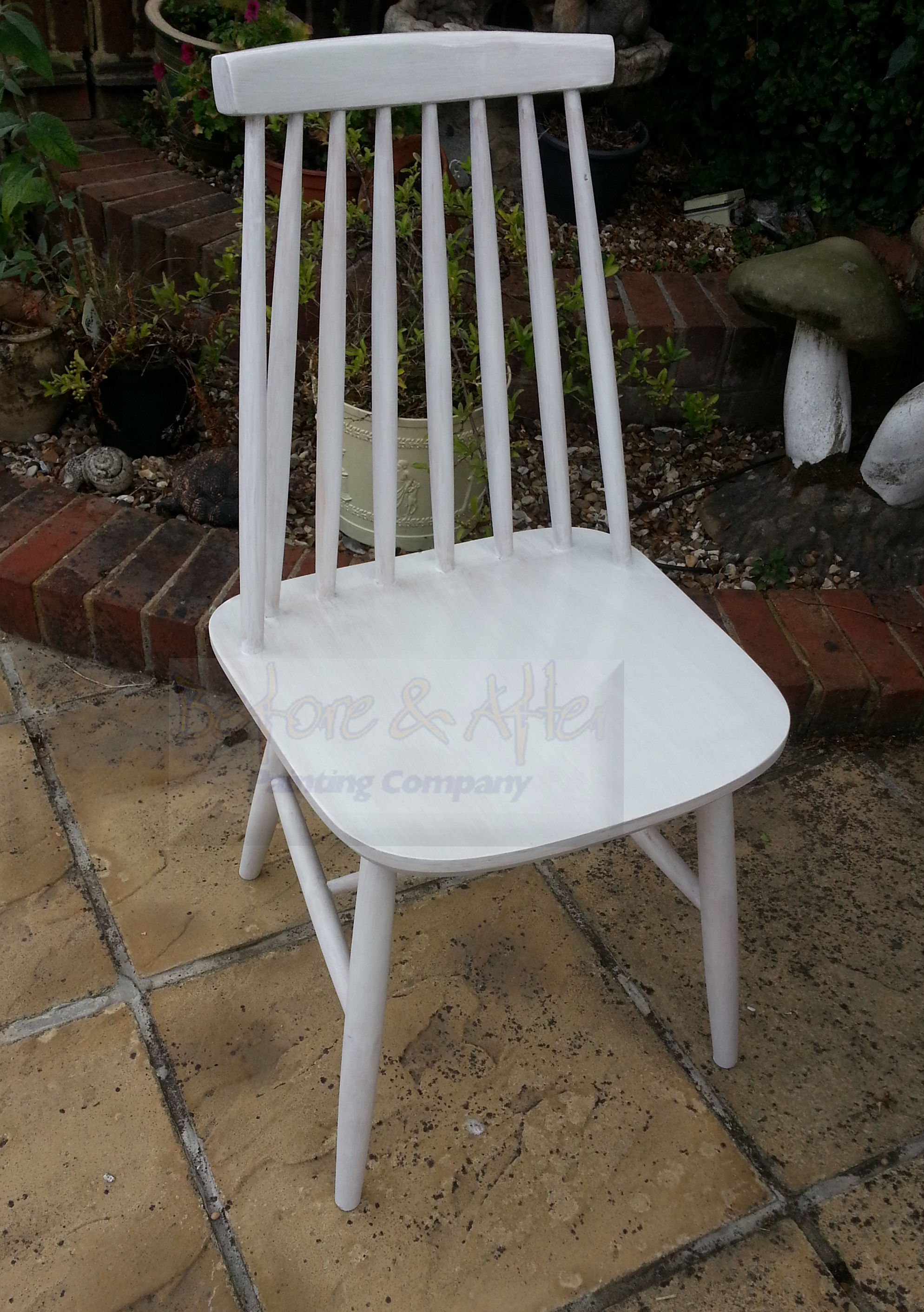 First coat of Zinsser Coverstain to Ercol kitchen chair - Tunstall Kent