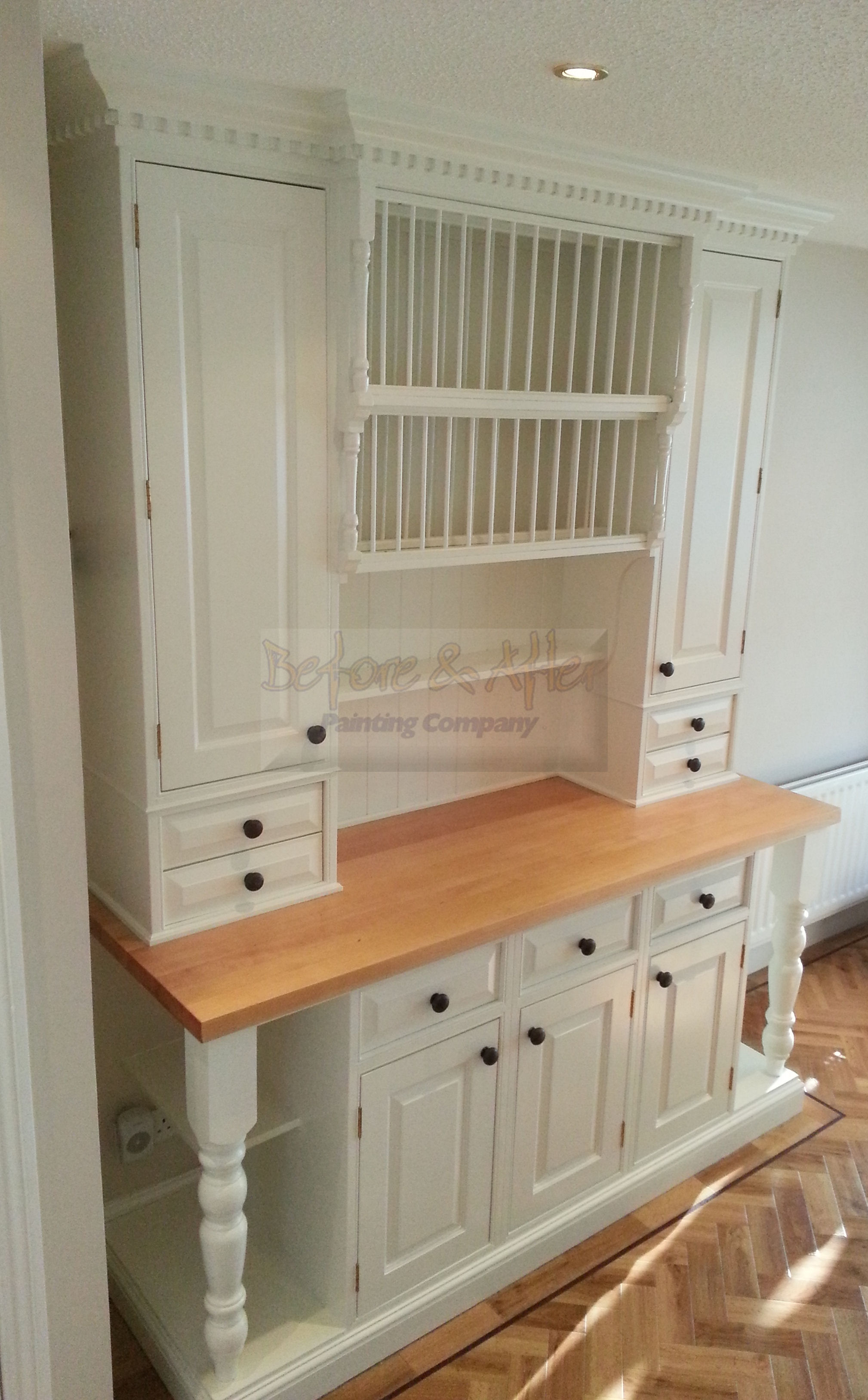 Hand Painted Kitchen Unit in Sidcup Kent