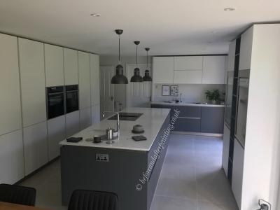 Minimalist kitchen decorated with Benjamin Moore #paintlikenoother