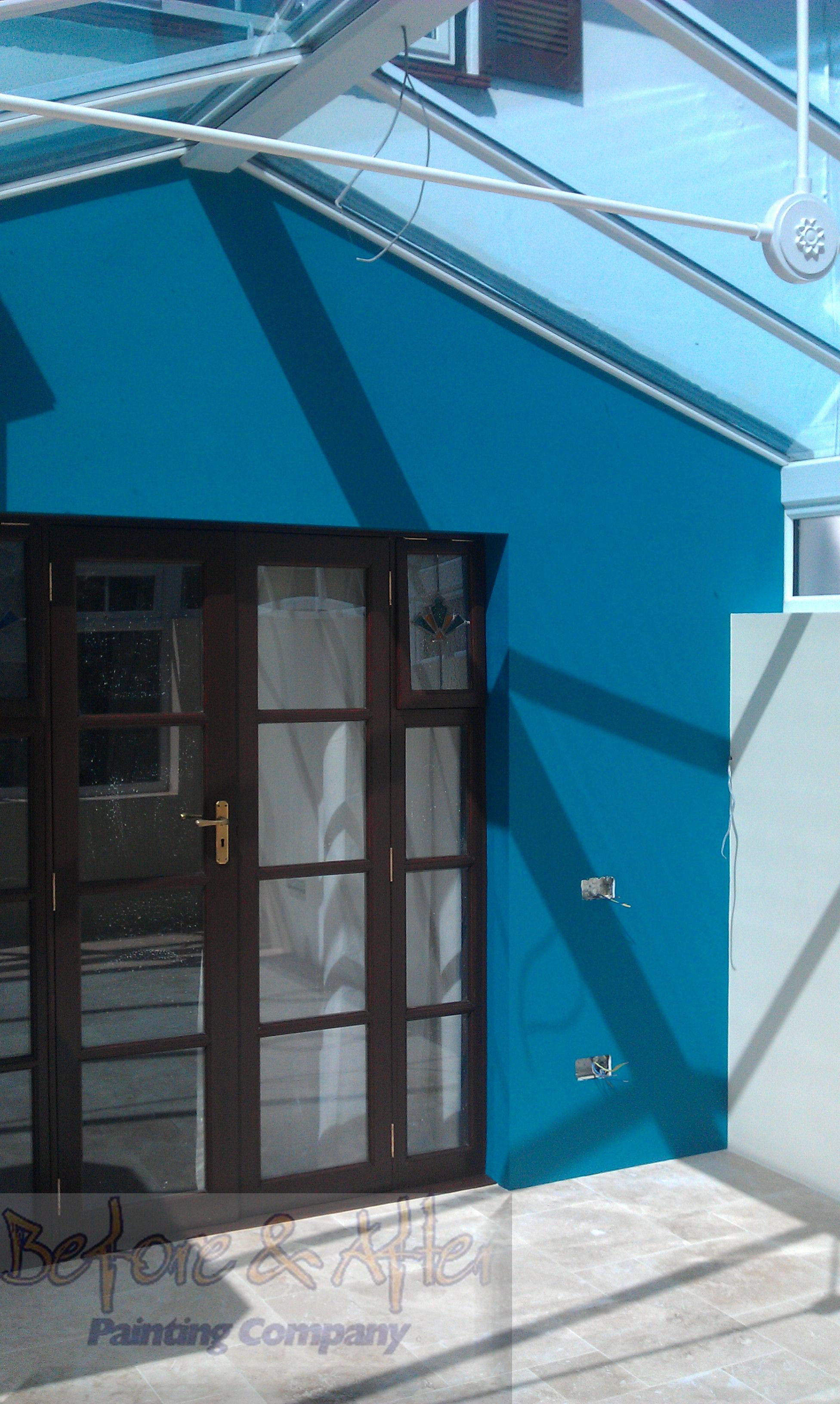 Glazed french doors and frame finished Sikkens Cetol Filter 7 - Walnut