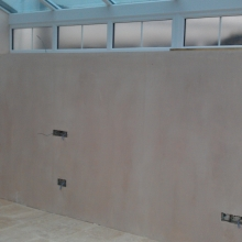 Fully plastered walls.