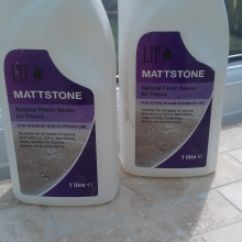 Mattstone Natural Floor Sealer. Two coats wiped on.