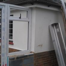 Conservatory still being built in Sittingbourne