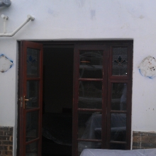 Still showing old existing rendered external wall.